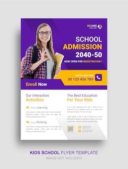 Flyer sjabloon voor kinderen onderwijs