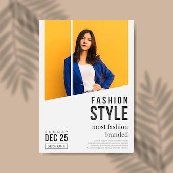 Flyer-sjabloon voor modeverkoop