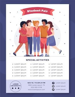 Flyer-sjabloon voor studentenbeurs