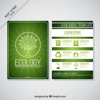 Flyer van de eco-vriendelijke zakelijke