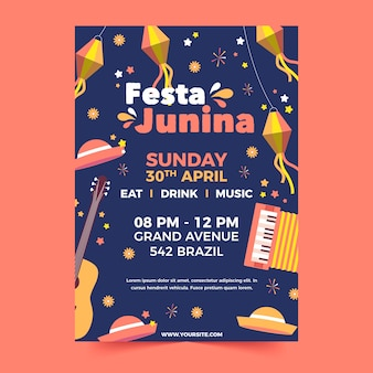 Flyer van festa junina