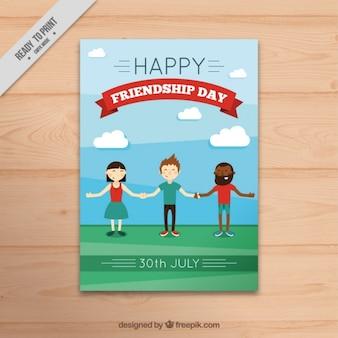 Flyer van vriendschap dag
