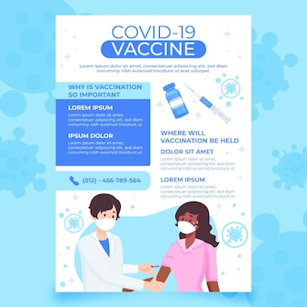 Flyer voor biologische platte coronavirusvaccinatie