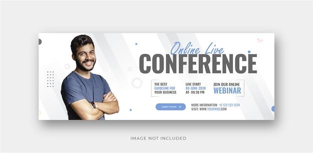 Flyer voor digitaal marketingbureau en creatieve sociale media facebook of instagram omslagpostontwerp