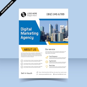 Flyer voor digitaal marketingbureau