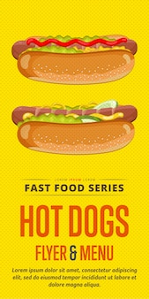 Flyer voor hotdogs.