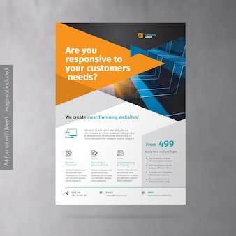 Flyer voor zakelijke promotie van webbureaus
