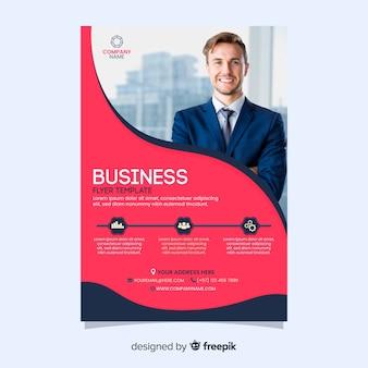 Flyer voor zakenman bedrijfsmalplaatje