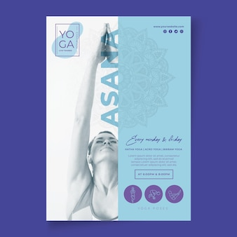 Flyer yogalessen sjabloon