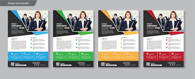 Flyer zakelijke sjabloon bedrijven