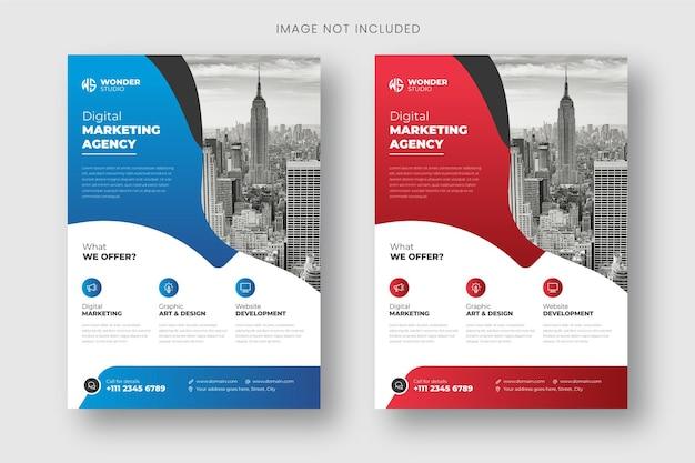 Flyer zakelijke sjabloon voor omslagbrochure corporate