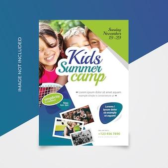 Flyer zomerkamp voor kinderen