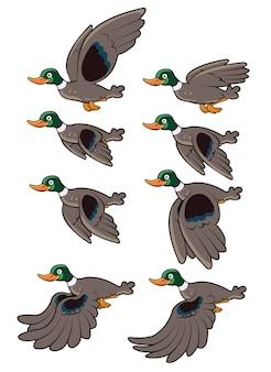 Flying duck-animatie sprite