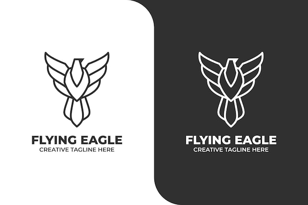 Flying eagle simple logo business