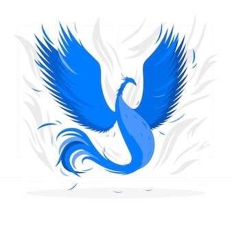 Flying phoenix concept illustratie