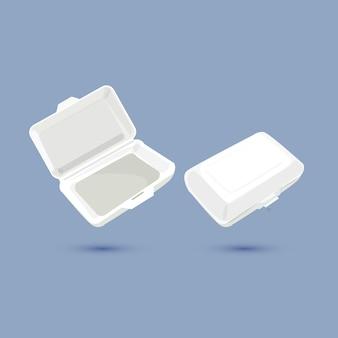 Foam lunchbox.