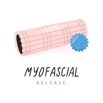 Foamroller en triggerpointbal voor myofascial release yoga pilates