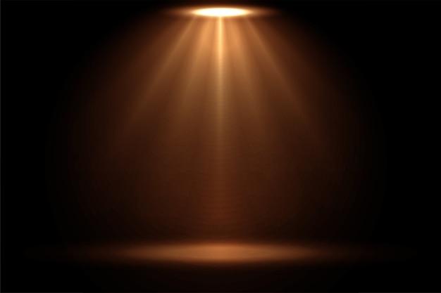 Focus spotlight-effectweergave in warme kleuren