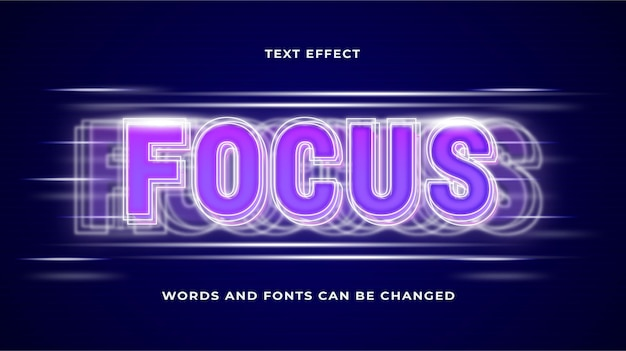 Focus teksteffect bewerkbare eps cc