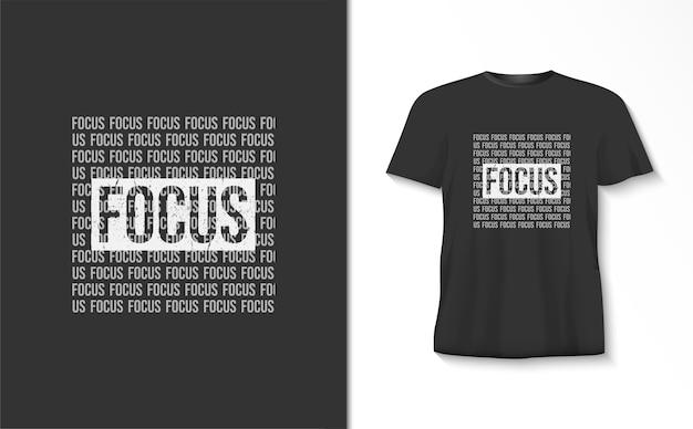 Focus typografie t-shirt