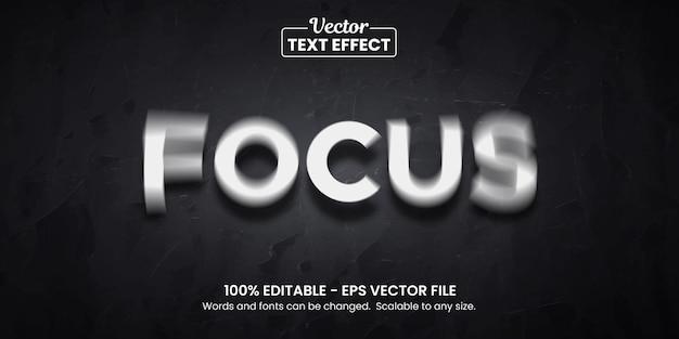 Focusillusie, bewerkbaar teksteffect