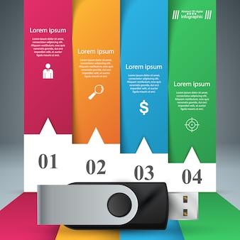 Foir items papieren infographic.