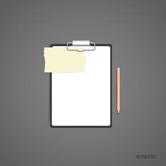Folder met wit papier