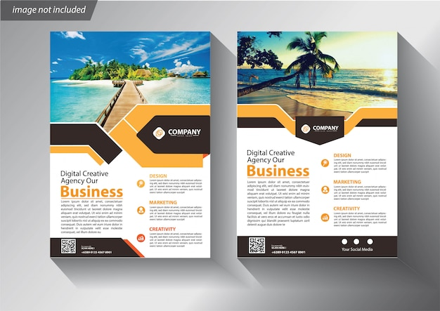 Folder of pamfletmalplaatje voor bedrijf