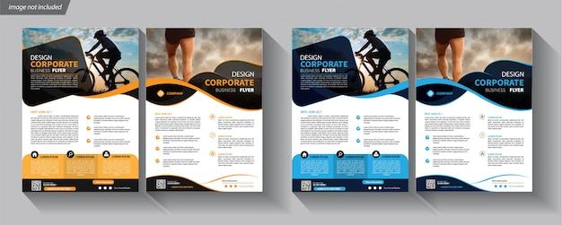 Folder zakelijke sjabloon voor dekking brochure corporate