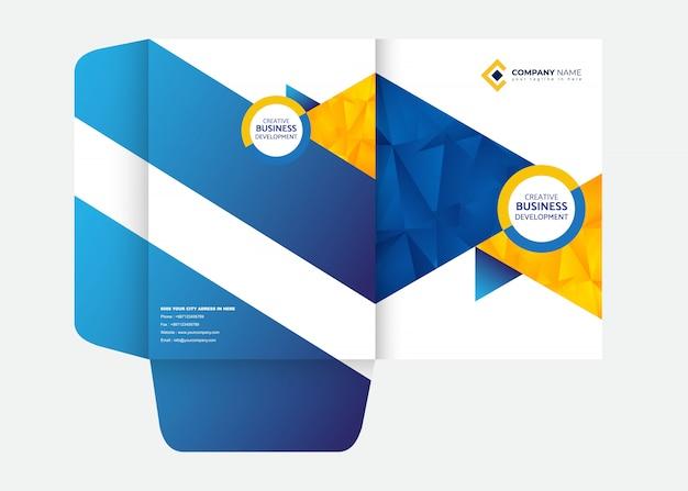 Foldersjabloon voor presentatiemapontwerp