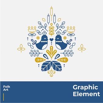 Folk art graphic element