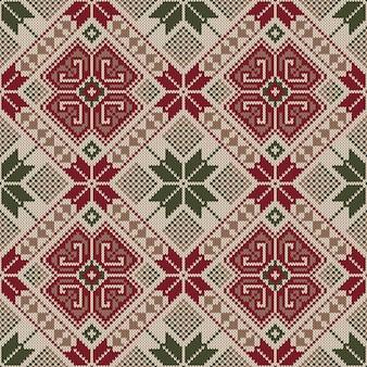 Folk naadloos patroonornament. etnisch ornament