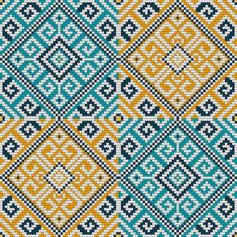 Folk traditioneel breipatroon