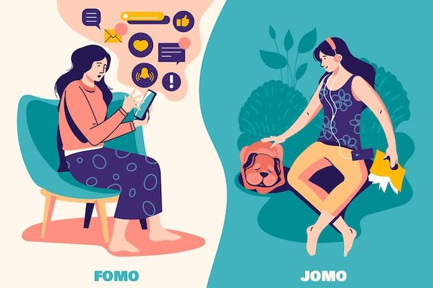 Fomo versus jomo-concept