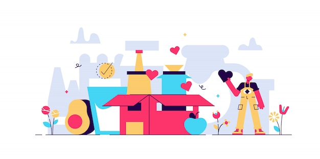 Food drive illustratie.