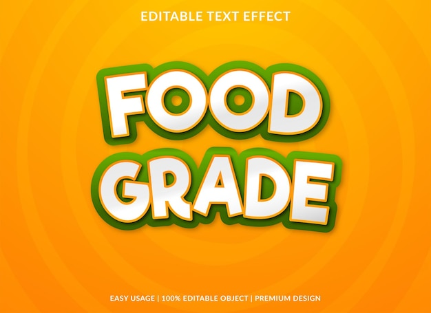 Food grade bewerkbare teksteffect premium stijl
