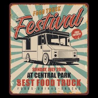 Food truck retro ontwerp