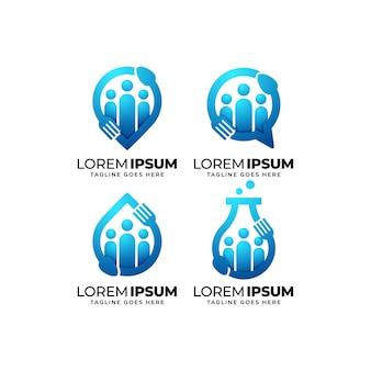 Foodservice groep logo ontwerpset