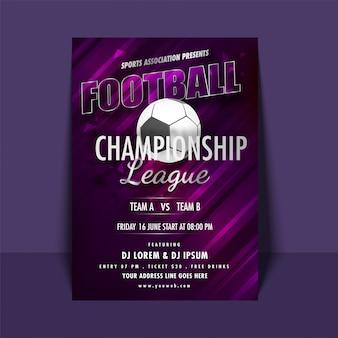 Football championship league-flyer