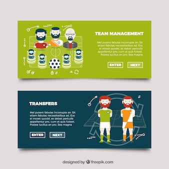 Football team banners