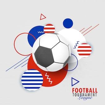 Football tournament league banner of posterontwerp