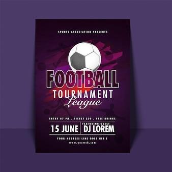 Football tournament league flyer