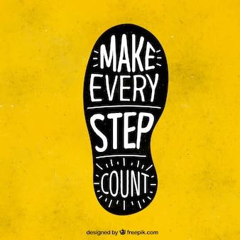 Footprint met inspirerende boodschap