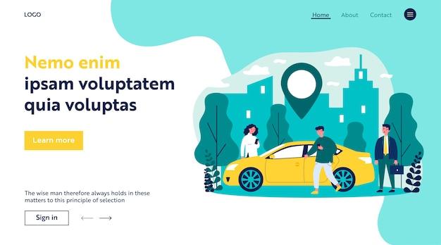 Forenzen die auto in stad delen