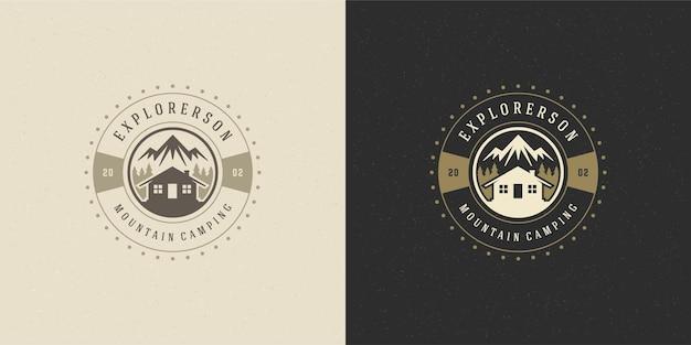 Forest camping logo embleem
