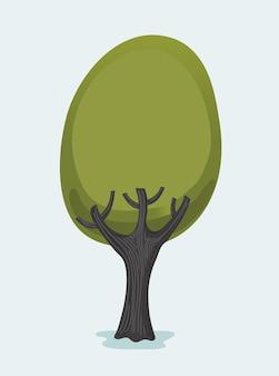 Forest tree illustratie geïsoleerd