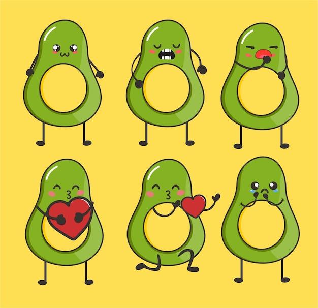 Forever friends herten schattige kawaii avocado