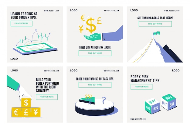 Forex aandelenmarktaandeel sociale media postverzamelingssjabloon