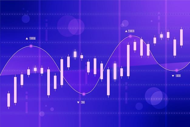 Forex trading achtergrondontwerp