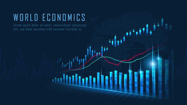 Forex trading grafiek achtergrond